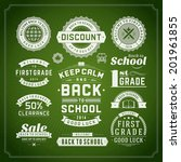 back to school vector design... | Shutterstock .eps vector #201961855
