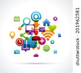 social media icons vector... | Shutterstock .eps vector #201962581