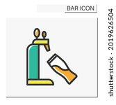 beer tap color icon. draft beer....   Shutterstock .eps vector #2019626504
