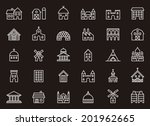 buildings   constructions icons | Shutterstock .eps vector #201962665