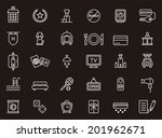 hotel icons | Shutterstock .eps vector #201962671