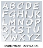 abstract 3d paper alphabet set  ... | Shutterstock .eps vector #201966721