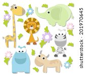 set of cute animals | Shutterstock .eps vector #201970645