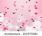 heart background. | Shutterstock . vector #201973381