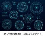 circle futuristic hud digital... | Shutterstock .eps vector #2019734444