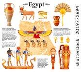 ancient egyptian vector. travel ... | Shutterstock .eps vector #2019772694