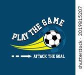 football sport typography tee... | Shutterstock .eps vector #2019815207