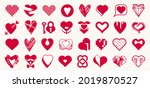 collection of hearts vector... | Shutterstock .eps vector #2019870527