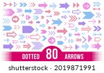 dotted arrows big vector set of ...