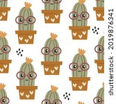 seamless pattern with cute... | Shutterstock .eps vector #2019876341