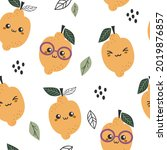 seamless pattern with cute... | Shutterstock .eps vector #2019876857