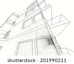 building architecture background | Shutterstock . vector #201990211
