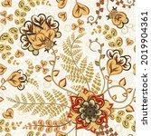 vintage seamless pattern....   Shutterstock . vector #2019904361