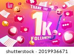 thank you followers peoples  1k ... | Shutterstock .eps vector #2019936671