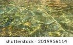 Transparent Green Sea Water...