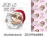 cute animal baby sloth sleeping ...   Shutterstock .eps vector #2019966884