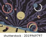 abstract space illustration ... | Shutterstock .eps vector #2019969797