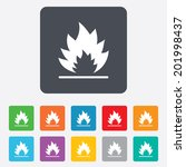 fire flame sign icon. heat... | Shutterstock .eps vector #201998437