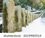 Stone Pillar On Mountain Forest ...