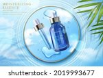 3d face essence cosmetic ad... | Shutterstock .eps vector #2019993677