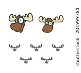smart moose icon | Shutterstock .eps vector #201999781