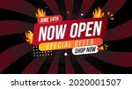 now open shop or new store red...   Shutterstock .eps vector #2020001507