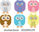 collection of adorable colorful ... | Shutterstock .eps vector #202000159