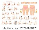 fat burning workout. girl...   Shutterstock .eps vector #2020002347