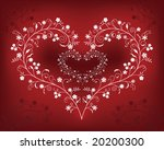 pattern with flowers in a shape ... | Shutterstock .eps vector #20200300