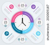 infographic design. time... | Shutterstock .eps vector #202005187