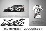 sport car wrap and t shirt... | Shutterstock .eps vector #2020056914