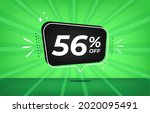 56  off. green banner with...   Shutterstock .eps vector #2020095491