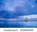 Ancient Two Mast Schooner...
