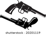 two guns  one of them with the... | Shutterstock .eps vector #20201119
