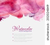 pink watercolor blots pattern... | Shutterstock .eps vector #202024849