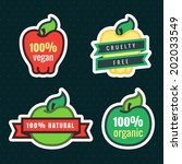 multicolor vegan  cruelty free  ... | Shutterstock .eps vector #202033549