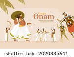 onam festival greeting... | Shutterstock .eps vector #2020335641