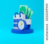 funny 3d illustration icon of...