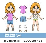cartoon girl with bob hairstyle ... | Shutterstock .eps vector #2020385411