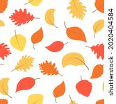 seamless colorful autumn... | Shutterstock .eps vector #2020404584