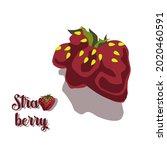 ripe strawberries of an unusual ... | Shutterstock .eps vector #2020460591