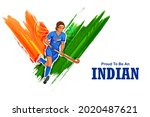 illustration of indian... | Shutterstock .eps vector #2020487621