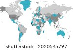 world map. color vector modern. ... | Shutterstock .eps vector #2020545797