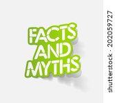 realistic design element  facts ...   Shutterstock .eps vector #202059727
