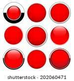 set red round buttons isolated... | Shutterstock .eps vector #202060471