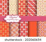 set of vector abstract pattern... | Shutterstock .eps vector #202060654
