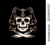 Skull Pirates And Swords...