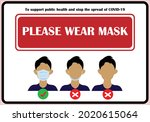 wear face mask sign and symbol. ... | Shutterstock .eps vector #2020615064