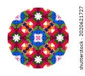 colorful mandala on white... | Shutterstock . vector #2020621727