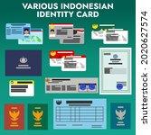 various type of indonesian...   Shutterstock .eps vector #2020627574